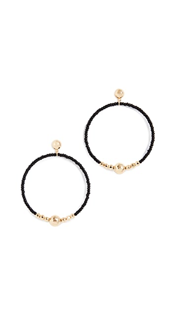 Gorjana Sayulita Drop Hoop Earrings