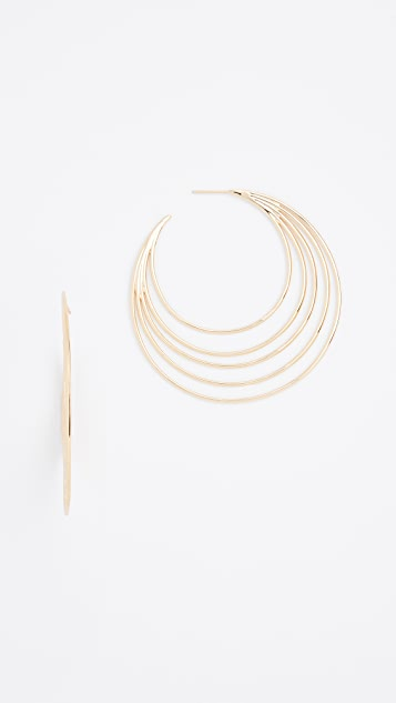 Gorjana Casey Profile Hoop Earrings