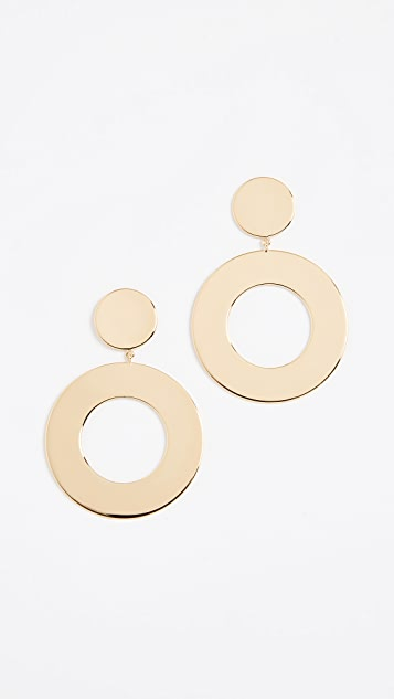 Gorjana Jagger Cutout Drop Earrings