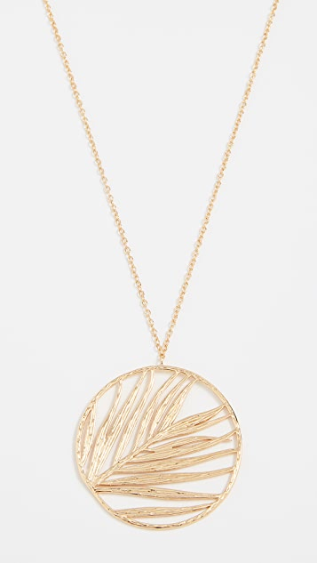 Gorjana Palm Pendant Adjustable Necklace