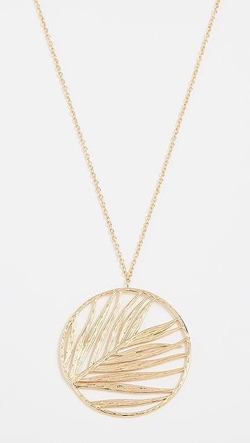 Gorjana Palm Pendant Adjustable Necklace Y0J0WuUzG