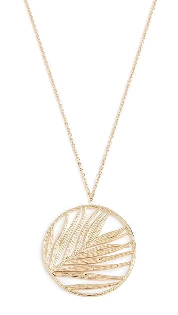 Gorjana Palm Pendant Adjustable Necklace
