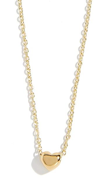 Gorjana Heart Charm Adjustable Necklace
