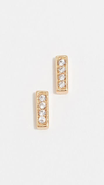Gorjana Mave Shimmer Mini Stud Earrings