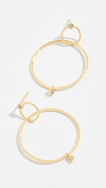 Gorjana Josslyn Interlocking Hoop Earrings