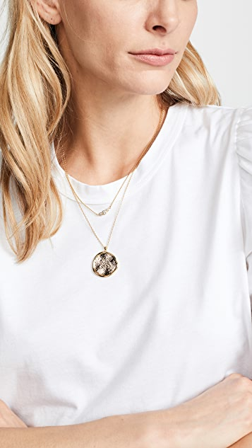 Gorjana Stamped Coin Necklace