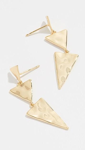 Gorjana Luca Tiered Triangle Earrings