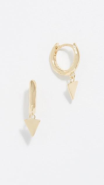 Gorjana Luca Triangle Huggie Earrings
