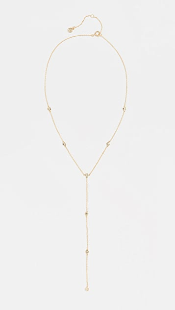 Chloe Short Lariat Necklace by Gorjana