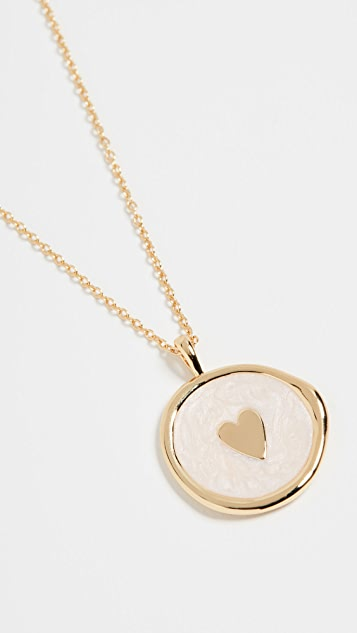 Gorjana 心形硬币项链