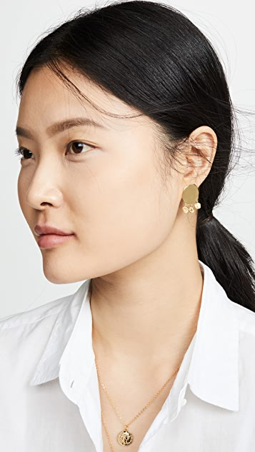 Gorjana Cruz Coin Drop Stud Earrings