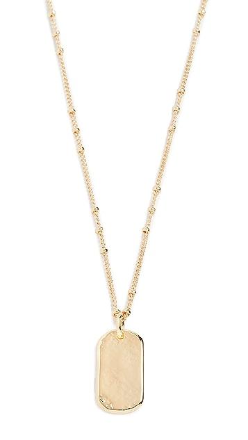 Gorjana Griffin Dog Tag Necklace