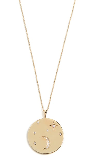 Gorjana Luna Coin Pendant Necklace