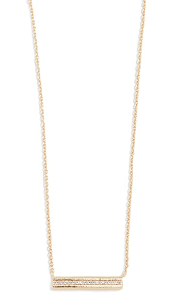 Gorjana Nia Shimmer Bar Necklace
