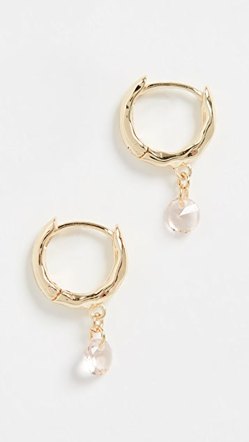Gorjana Lia Shimmer Huggie Earrings