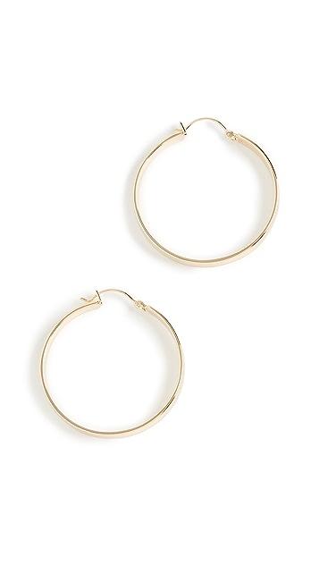 Gorjana Jax 圈式耳环