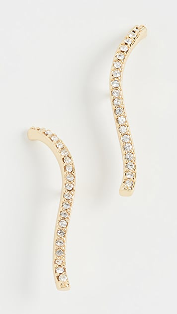 Gorjana Rosslyn Wave Stud Earrings