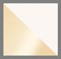 белые фианиты/золотистый