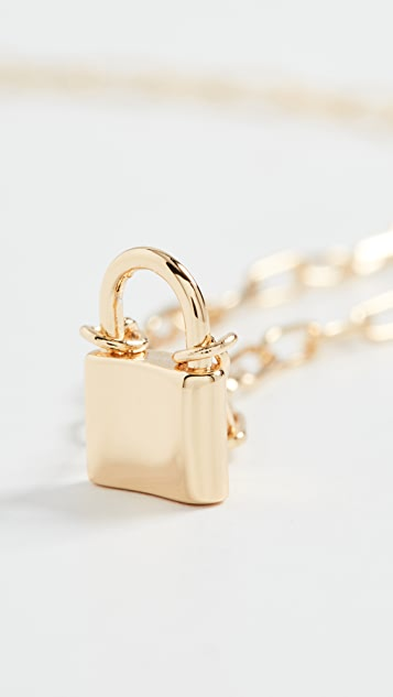 Gorjana Kara 小挂锁饰物项链