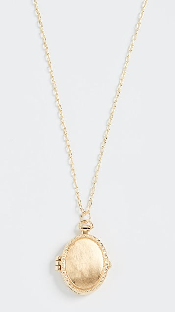 Gorjana Bali Antique Locket Necklace