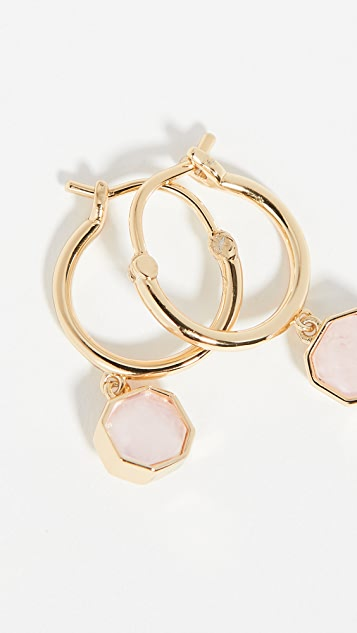 Gorjana Power Gemstone Charm Huggie Earrings