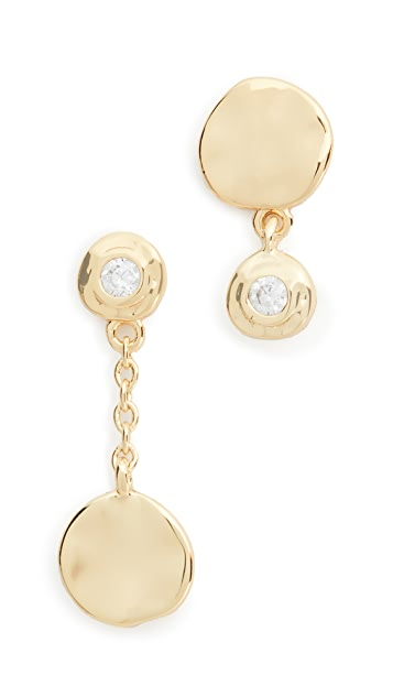 Gorjana Chloe Shimmer Mismatched Earrings