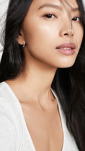 Gorjana Taner 迷你圈式耳环