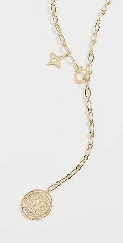 Gorjana - Maya Coin Clasp Lariat Necklace
