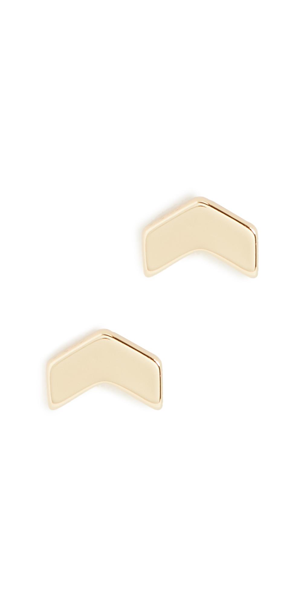 Gorjana Earrings VENICE CHEVRON STUD EARRINGS