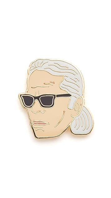 Georgia Perry Karl Lagerfeld Pin