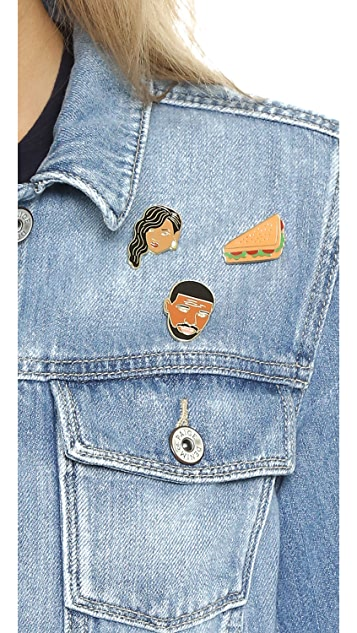 Georgia Perry Rihanna Pin