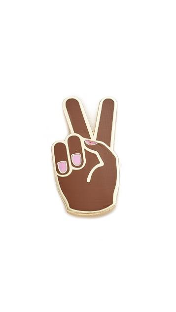 Georgia Perry Peace Hand Lapel Pin