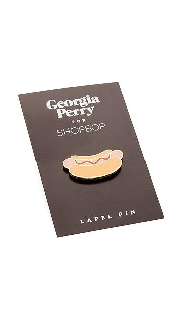 Georgia Perry Hot Dog Lapel Pin