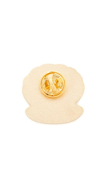 Georgia Perry Clam Lapel Pin