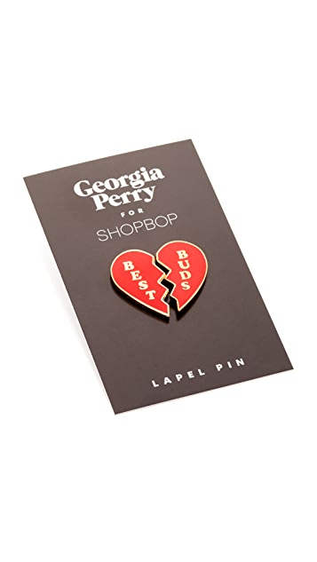 Georgia Perry Best Buds Lapel Pin