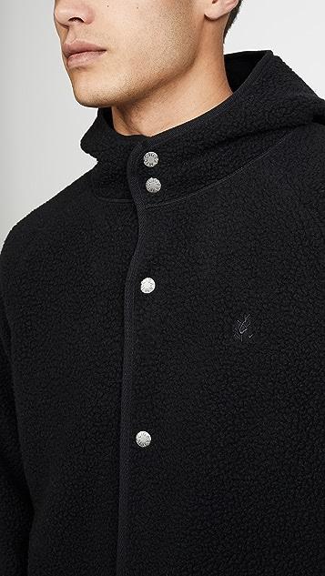 Gramicci Japan Boa Fleece Hooded Coaches Jacket
