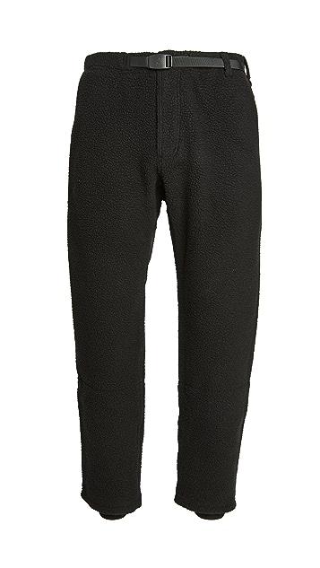 Gramicci Japan Boa Fleece Belted Pants