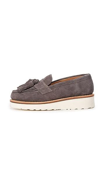 Grenson Clara Tassel Platform Loafers