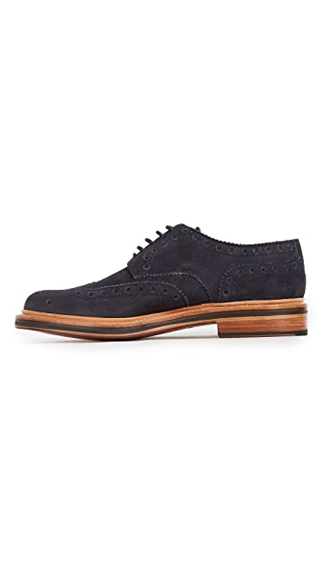 Grenson Archie Suede Wingtip Brogues