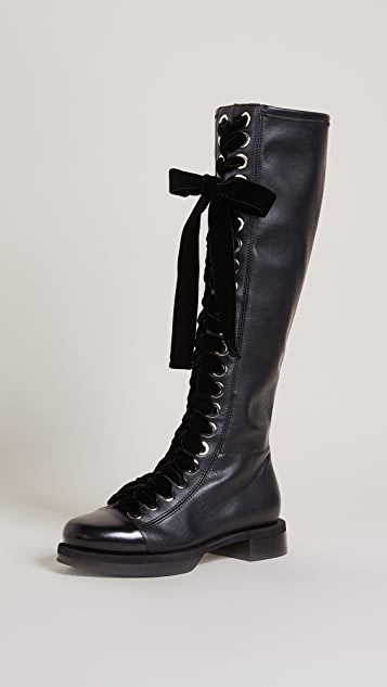 Greymer College Roxy Combat Boots