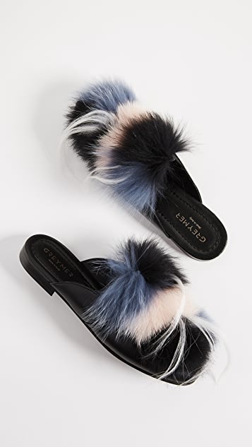 Greymer Lucy Fur Mules