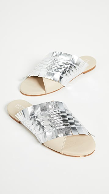 Greymer Happy Woven Slides