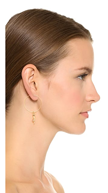 Gillian Steinhardt 14k Gold YAD Hoop Large Earring