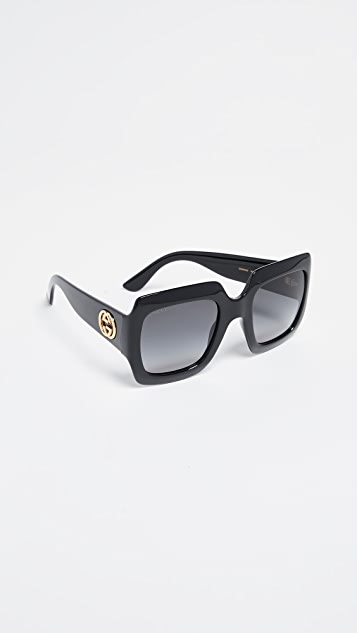 Gucci Oversized Gem Sunglasses