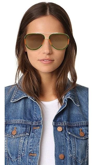 Gucci Солнцезащитные очки-авиаторы Pilot Urban Web Block
