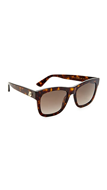 Gucci Square Tiger Sunglasses