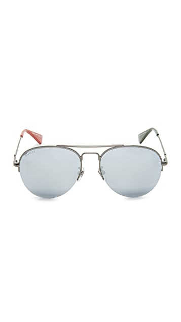 Gucci Urban Pilot Aviator Sunglasses
