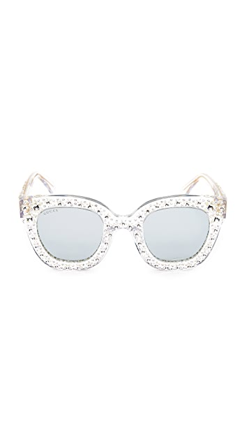 3cdb24df5 Gucci Swarovski Crystal Square Sunglasses | SHOPBOP