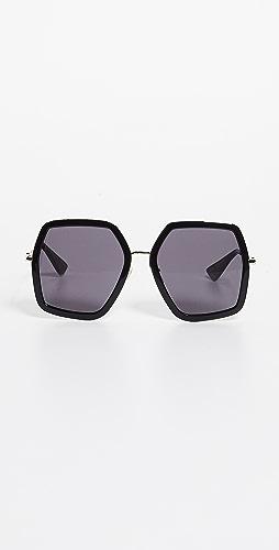 Gucci - Urban Web Block Sunglasses
