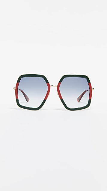 Gucci Urban Web Block Sunglasses